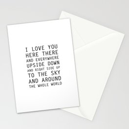 I Love You Everywhere Stationery Cards