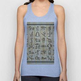 Ancient Egyptian Hieroglyphs on Papyrus Unisex Tank Top