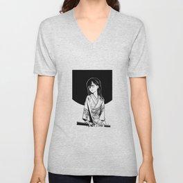 black moon girl Unisex V-Neck