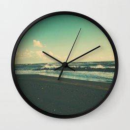 Dark Sand Beach Wall Clock