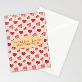 Like a Warm Vagina Stationery Cards