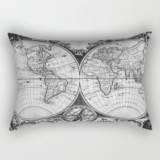 Vintage Old Map Design Rectangular Pillow