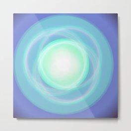 Galaxy blue minimal abstract Metal Print