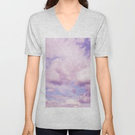 Pink Clouds In The Blue Sky #decor #society6 #buyart Unisex V-Neck