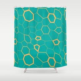Hex pattern Shower Curtain