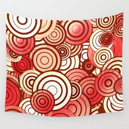Layered random circles Wall Tapestry
