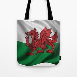 Y Ddraig Goch Welsh Flag Tote Bag