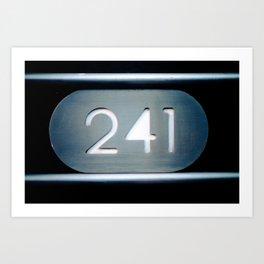 241 Cut Metal Sign Art Print