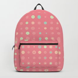 Small polka dots with pink background Backpack