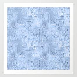Boro Embroidery Art Print