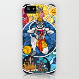 Life of Hanuman iPhone Case