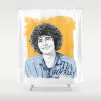 tim burton Shower Curtains featuring Tim Buckley by Daniel Cash