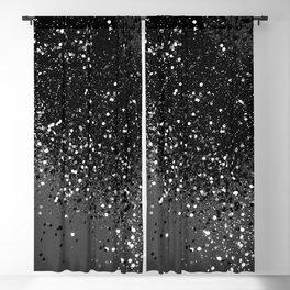 Dark Gray Black Lady Glitter #1 #shiny #decor #art #society6 Blackout Curtain
