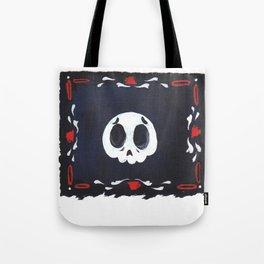 sad skull Tote Bag