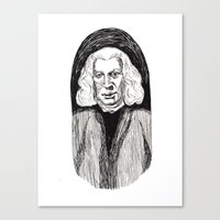 allyson johnson Canvas Prints featuring Samuel Johnson by Emma Ridgway