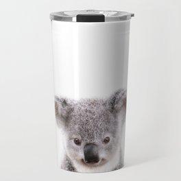 Baby Koala, Baby Animals Art Print By Synplus Travel Mug