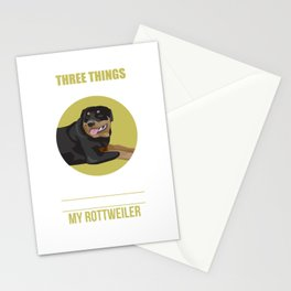 Don't Mess With: Family Freedom Rottweiler Stationery Cards