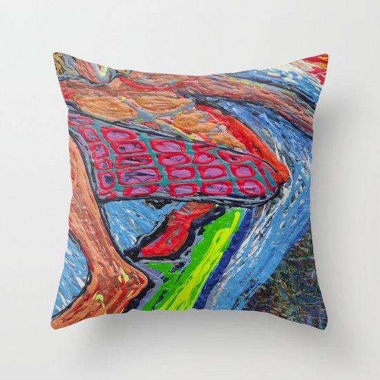 Tasty Waves Throw Pillow