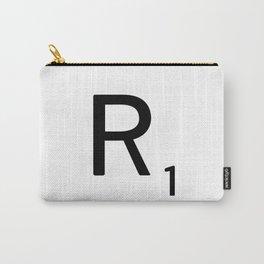 Letter R - Custom Scrabble Letter Tile Art - Scrabble R Initial Carry-All Pouch