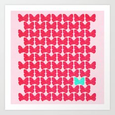 One of a kind (pink) Art Print
