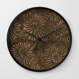 Coconut Batik 03 Wall Clock
