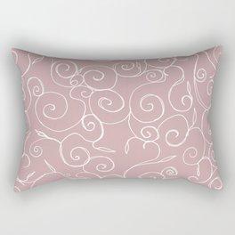 Filigree: Pink + White Rectangular Pillow