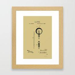 T.Edison Electric Lamp Patent - Circa 1880 Framed Art Print