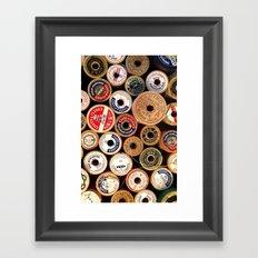 Vintage Sewing Thread Spools Framed Art Print