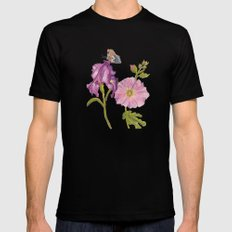 Botanical Black SMALL Mens Fitted Tee