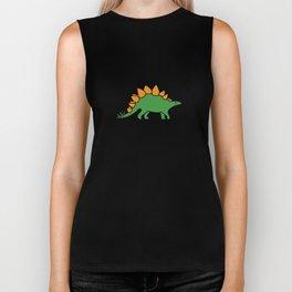 Cute Stegosaurus Biker Tank