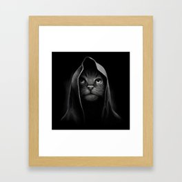 Cat portrait Framed Art Print