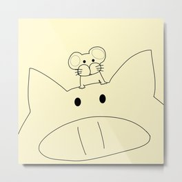 pig & mouse-474 Metal Print