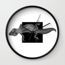 Gecko Skeleton Wall Clock