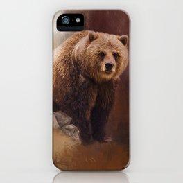 Great Strength - Grizzly Bear Art by Jordan Blackstone iPhone Case