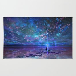 Ocean, Stars, Sky, and You Rug