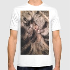 Amos in fur Mens Fitted Tee White MEDIUM