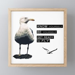 Seagull - Philosophy of LIFE Framed Mini Art Print