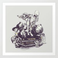 toy story Art Prints featuring Toy Story by Alex Solis