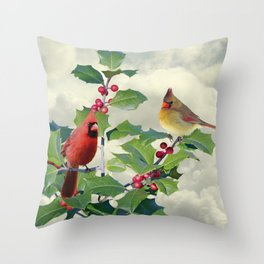 Spade's Cardinals Throw Pillow