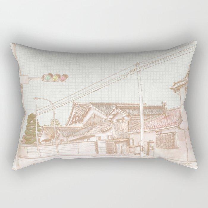 Street in Japan Rectangular Pillow