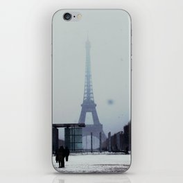 Winter in Paris; Eiffel Tower iPhone Skin