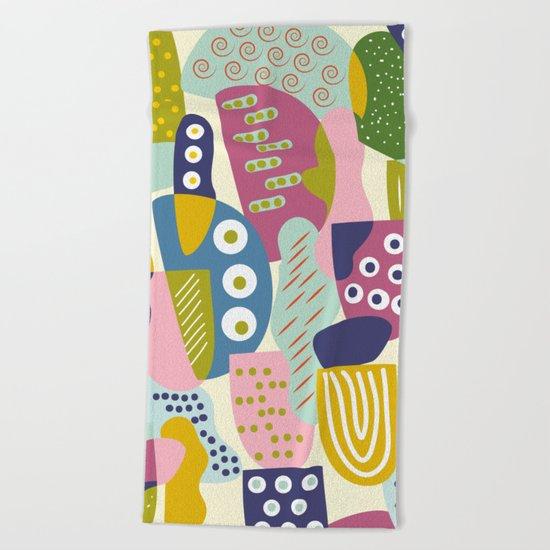 Colourful print Beach Towel