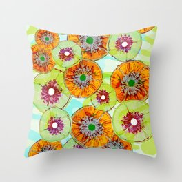 Floating Flower Pods Throw Pillow