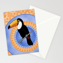Toco Toucan on Decorative Rings Stationery Cards