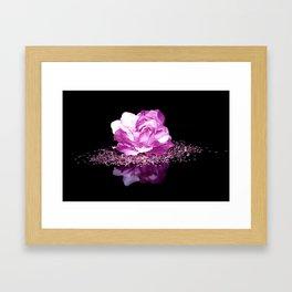 Flower reflexion Framed Art Print