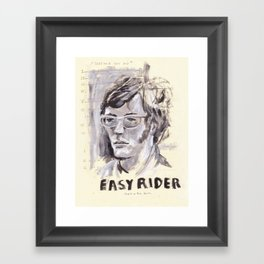 Easy Rider Collage Framed Art Print