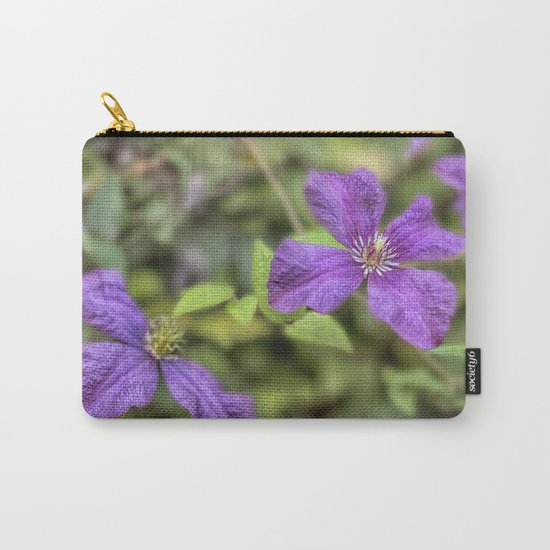 purple Clematis flower Carry-All Pouch