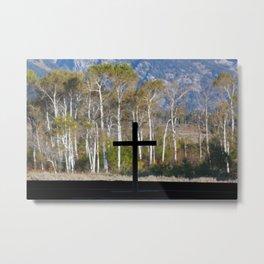 Cross and Burch Trees Metal Print