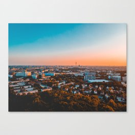 beautiful Berlin in the afternoon with tv-tower in the backgro Canvas Print