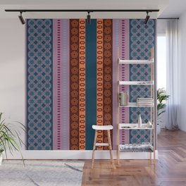 Ethnic Andean Peruvian Textile Pattern Wall Mural